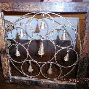 Wooden Wall Panel w/ Brass Bells